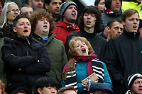 Swansea City fans during during the Premier League match between Manchester United and Swansea City at the Old Trafford, Manchester, England, UK. Saturday 31 March 2018