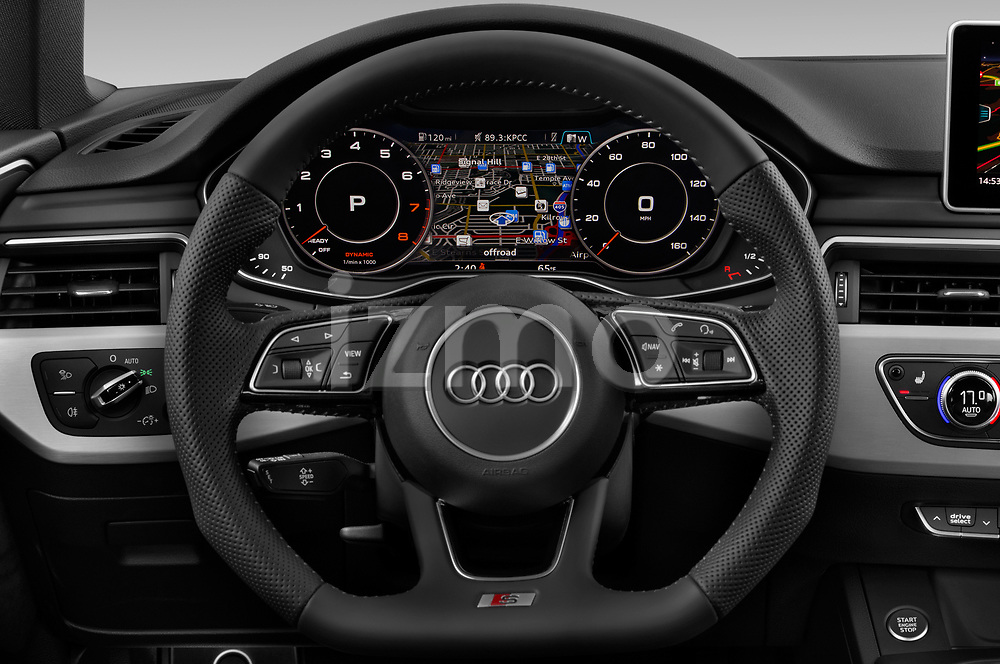 Car pictures of steering wheel view of a 2019 Audi A5-Sportback Premium 5 Door Hatchback Steering Wheel