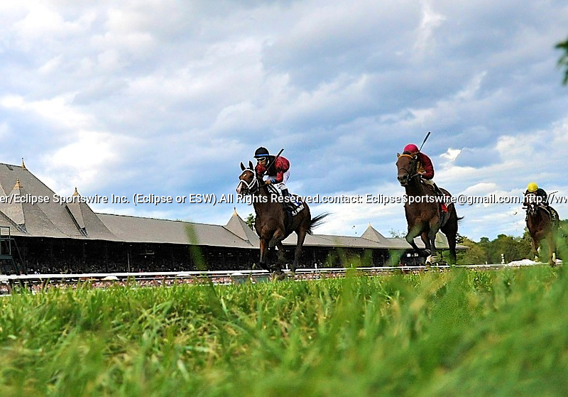 10 September 05: Lethal Combination (no. 3), ridden by Alan Garcia and trained by Kiaran McLaughlin, wins the 103rd running of the grade 3 Saranac Stakes for three year olds at Saratoga Race Track in Saratoga Springs, New York.