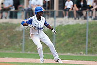 25 july 2010: Felix Brown of France is seen on first base during France 6-1 victory over Czech Republic, in day 3 of the 2010 European Championship Seniors, in Neuenburg, Germany.