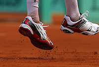 31-05-10, Tennis, France, Paris, Roland Garros, shoes with clay