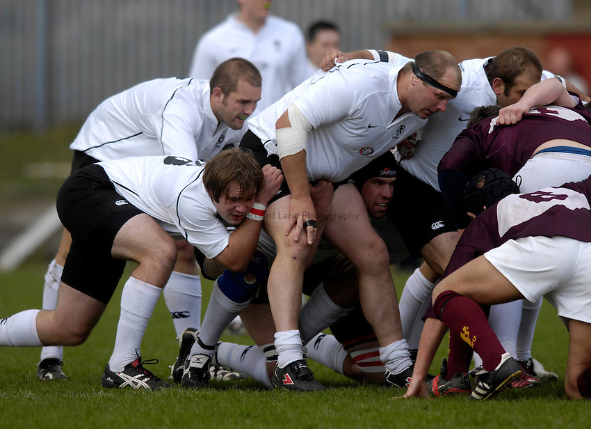 Photo: Jed Wee/Sportsbeat Images..Durham v Eastern Counties. County Championship Plate final. 26/05/2007...Eastern Counties forwards prepare to pack down.