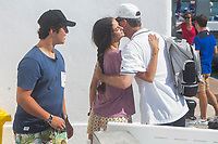 Froilan, Victoria Federica and King of Spain Felipe in the nautical club