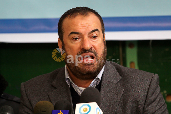 Hamas leader, Fathi Hammad delivers speech during the opening ceremony of a new police station, in Gaza City on Jan. 15,2011. Photo by Mohammed Asad