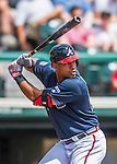 14 March 2016: Atlanta Braves outfielder Hector Olivera, ranked the Number 4 Top Prospect in the Braves organization for 2016 by Baseball America, in action during a Spring Training pre-season game against the Tampa Bay Rays at Champion Stadium in the ESPN Wide World of Sports Complex in Kissimmee, Florida. The Braves shut out the Rays 5-0 in Grapefruit League play. Mandatory Credit: Ed Wolfstein Photo *** RAW (NEF) Image File Available ***