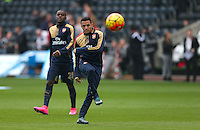 Alexis Sanchez of Arsenal warms up before the Barclays Premier League match between Swansea City and Arsenal played at The Liberty Stadium, Swansea on October 31st 2015