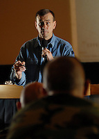 "071022-N-7981E-155 NAVAL AMPHIBIOUS BASE CORONADO (October 22, 2007)- Lt. Col. Dave Grossman (U.S. Army Retired), director of the Killology research group and author of the Pulitzer Prize-winning book ""On Killing: The Psychological Cost of Learning to Kill in War and Society"" delivers his acclaimed ""Bulletproof Mind"" lecture to Special Warfare Operators, Explosive Ordinance Disposal, and other special operations personnel at the Naval Amphibious Base Coronado theatre. During the six-hour lecture, Grossman discussed a broad range of issues faced by the ""warrior"" community and the importance of overcoming them in the face of an increasingly violent society. Grossman, a former Army Ranger and West Point psychology professor, is considered one of the world's foremost experts in the field of human aggression and the roots of violence and violent crime."