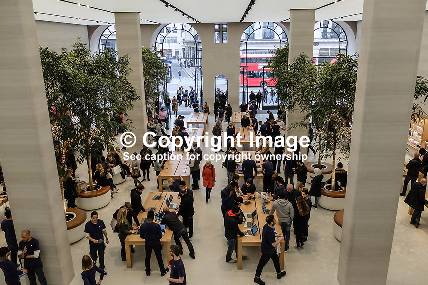 Interior, Apple Store, Regent Street, London, UK, March, 2017, 201703173346<br />