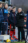 Mark Warburton talking Billy King through his game after being substituted