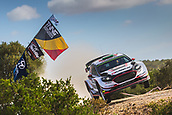 8th June 2017, Alghero, West Coast of Sardinia, Italy; WRC Rally of Sardina;  Evans