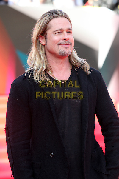 Brad Pitt <br /> The opening of the Moscow International Film Festival, Moscow, Russia.<br /> June 20th, 2013<br /> half length black top suit jacket goatee facial hair <br /> CAP/PER/LS<br /> &copy;LS/PersonaStars/CapitalPictures