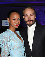 LOS ANGELES, CA - NOVEMBER 8: Marco Perego, Zoe Saldana, at the Eva Longoria Foundation Dinner Gala honoring Zoe Saldana and Gina Rodriguez at The Four Seasons Beverly Hills in Los Angeles, California on November 8, 2018. Credit: Faye Sadou/MediaPunch