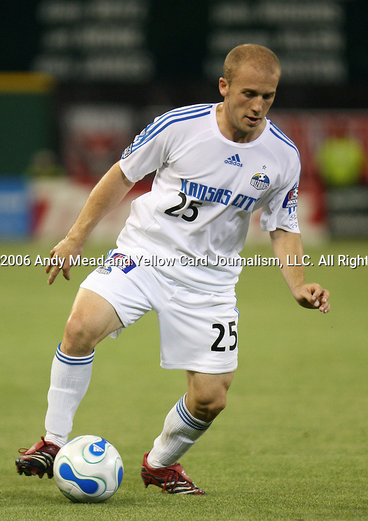 13 May 2006: Kansas City's Matt Groenwald. DC United played defeated the Kansas City Wizards 2-1 in a Major League Soccer regular season game at RFK Stadium in Washington, DC.