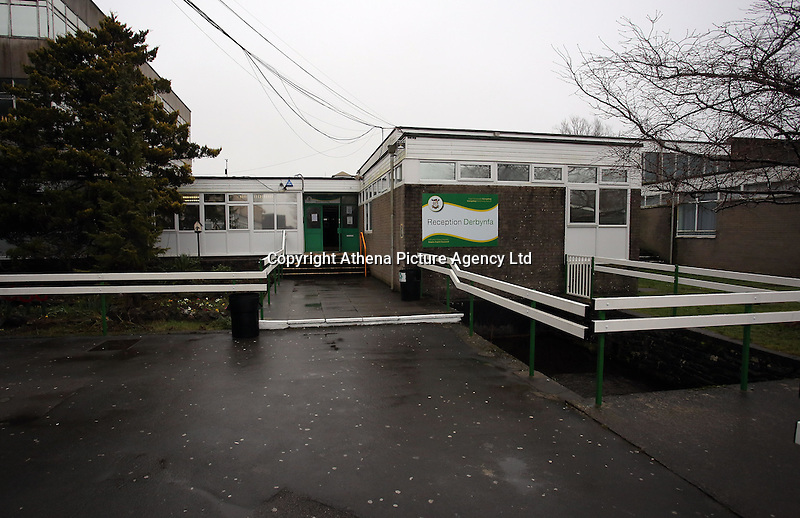 Pictured:  Llangatwg Community School, in Neath, Wales, UK. Tuesday 21 February 2017<br /> Re: A Muslim teacher denied entry to the United States while on a school.<br /> Juhel Miah, 25, had flown to Reykjavik, Iceland, with the party from Llangatwg Community School in Aberdulais, Neath, before boarding an onward flight to New York on 16 February.<br /> But before the plane took off he was escorted off by security staff.