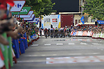 Sprint for the finish line at the end of Stage 4 of La Vuelta 2019 running 175.5km from Cullera to El Puig, Spain. 27th August 2019.<br /> Picture: Eoin Clarke | Cyclefile<br /> <br /> All photos usage must carry mandatory copyright credit (© Cyclefile | Eoin Clarke)