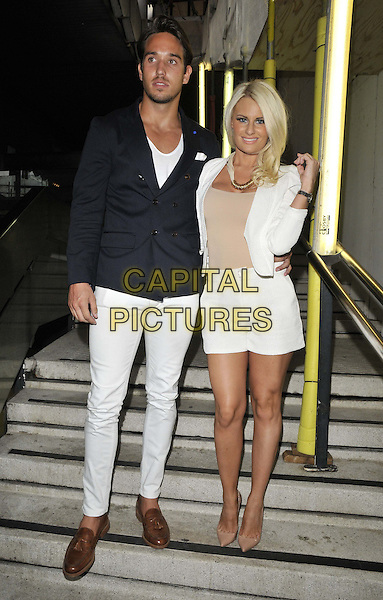 LONDON, ENGLAND - JULY 16: James Lock &amp; Danielle Armstrong attend the Attitude Magazine's World Sexiest Men 2014 summer party, The Paramount Club, 31st floor, Centre Point, New Oxford St., on Wednesday July 16, 2014 in London, England, UK. <br /> CAP/CAN<br /> &copy;Can Nguyen/Capital Pictures
