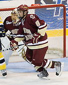 John Muse (BC - 1), Edwin Shea (BC - 8) - The Merrimack College Warriors defeated the Boston College Eagles 5-3 on Sunday, November 1, 2009, at Lawler Arena in North Andover, Massachusetts splitting the weekend series.