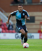 Aaron Holloway of Wycombe Wanderers on the ball during the Sky Bet League 2 match between Leyton Orient and Wycombe Wanderers at the Matchroom Stadium, London, England on 19 September 2015. Photo by Andy Rowland.