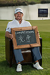"Graeme McDowell was asked by Ballantine's at the BMW Masters to describe how he stays true to himself; his answer is shown. Ballantine's, who recently announced their new global marketing campaign, ""Stay True, Leave An Impression"", is a sponsor at the BMW Masters, which takes place from the 24-27 October at Lake Malaren Golf Club in Shanghai.  Photo by Andy Jones / The Power of Sport Images for Ballantines."