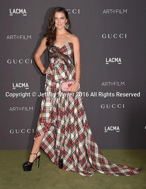 LOS ANGELES, CA - OCTOBER 29:  Maya Henry attends the 2016 LACMA Art + Film Gala honoring Robert Irwin and Kathryn Bigelow presented by Gucci at LACMA on October 29, 2016 in Los Angeles, California.