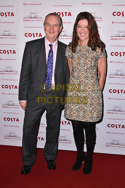 Ian Hislop, Victoria Hislop<br /> Costa Book Of The Year Award 2016, at Quaglino&rsquo;s, London, England on January 31, 2017.<br /> CAP/JOR<br /> &copy;JOR/Capital Pictures