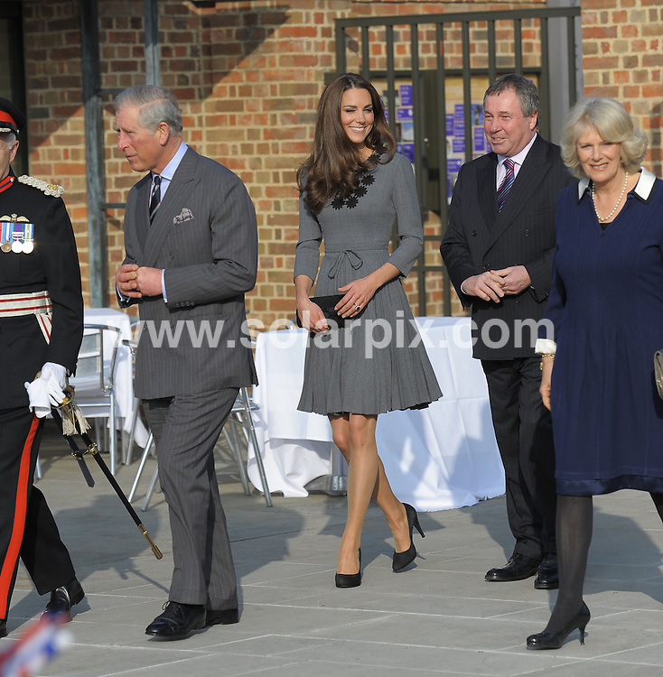 **ALL ROUND PICTURES FROM SOLARPIX.COM**                                             **WORLDWIDE SYNDICATION RIGHTS**                                                                                  Royal visit to Dulwich Picture Gallery..The Prince of Wales, accompanied by Camilla, Duchess of Cornwall and Catherine, Duchess of Cambridge, arrives to see the work of The Prince's Foundation for Children and the Arts at Dulwich Picture Gallery, London.                                                                            This pic:   Charles, Catherine & Camilla                                                                                           JOB REF:   14570     MSR       DATE:   15.03.12                                                         **MUST CREDIT SOLARPIX.COM OR DOUBLE FEE WILL BE CHARGED**                                                                      **MUST AGREE FEE BEFORE ONLINE USAGE**                               **CALL US ON: +34 952 811 768 or LOW RATE FROM UK 0844 617 7637**
