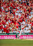 7 October 2017: Washington Nationals third baseman Anthony Rendon rounds third after opening the scoring with a solo home run in the first inning of the second NLDS game against the Chicago Cubs at Nationals Park in Washington, DC. The Nationals defeated the Cubs 6-3 and even their best of five Postseason series at one game apiece. Mandatory Credit: Ed Wolfstein Photo *** RAW (NEF) Image File Available ***