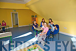 posing for a photo in the activity room at the new Play School in Causeway on Sunday were Patrice Diggin, Sinead Fealy, Rachel O'hara, Aoife Connor, Rebecca Mulvihill, Gearoid O' Neill, Michaela O'Sullivan and Aideen Casey..   Copyright Kerry's Eye 2008