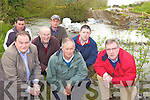 COUNTER: Residents and local councillors who are protesting at the construction of a fish counter on the River Maine at Currans, including front l-r: Cllr Tom Fleming, Cllr Brendan Cronin, Cllr Bobby O'Connell. Back l-r: Bertie Scanlon, John O'Sullivan, John O'Connor, Edward O'Sullivan (ICMSA).