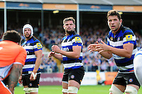 Elliott Stooke of Bath Rugby looks on at a lineout. Aviva Premiership match, between Bath Rugby and Newcastle Falcons on September 10, 2016 at the Recreation Ground in Bath, England. Photo by: Patrick Khachfe / Onside Images