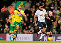 Bolton Wanderers' Josh Magennis pushes forward<br /> <br /> Photographer David Shipman/CameraSport<br /> <br /> The EFL Sky Bet Championship - Norwich City v Bolton Wanderers - Saturday 8th December 2018 - Carrow Road - Norwich<br /> <br /> World Copyright &copy; 2018 CameraSport. All rights reserved. 43 Linden Ave. Countesthorpe. Leicester. England. LE8 5PG - Tel: +44 (0) 116 277 4147 - admin@camerasport.com - www.camerasport.com