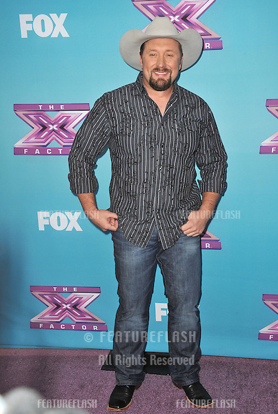 "Tate Stevens at the press conference for the season finale of Fox's ""The X Factor"" at CBS Televison City, Los Angeles..December 17, 2012  Los Angeles, CA.Picture: Paul Smith / Featureflash"