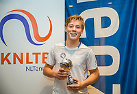 Hilversum, Netherlands, December 3, 2017, Winter Youth Circuit Masters, 12,14,and 16, years, prizegiving 16 years<br /> , 3 th place boys : Fons van Sambeek<br /> Photo: Tennisimages/Henk Koster