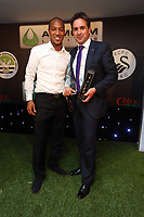 Thursday 16 May 2013<br /> Pictured L-R: Jonathan de Guzman with Infiniti sponsor<br /> Re: Swansea City FC footballer of the year awards dinner at the Liberty Stadium.