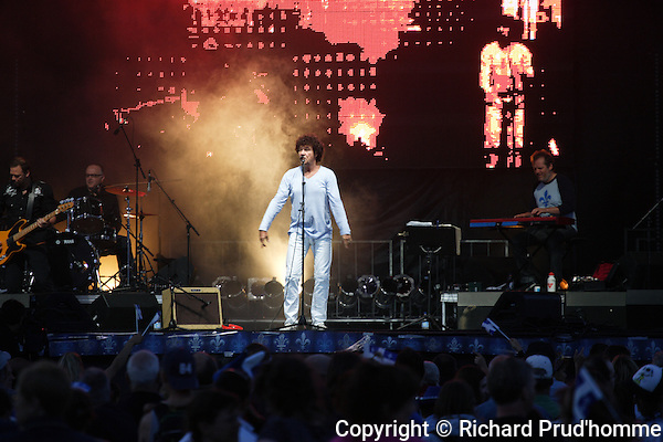 French Quebec singer Robert Charlebois performs  at the  Fete Nationale at  l'ile Lebel, in Repentigny, 24 juin 2010