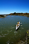 California:  Kayakers near Monterey at Elkhorn Slough.  Model released..Photo copyright Lee Foster, 510-549-2202, lee@fostertravel.com, www.fostertravel.com..Photo #: caelkh104