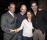 Producer Hal Luftig with Elena Roger, Michael Cerveris & Ricky Martin.attending the Broadway Opening Night Actors' Equity Gypsy Robe Ceremony for recipient Matt Wall in 'EVITA' at the Marquis Theatre in New York City on 4/6/2012