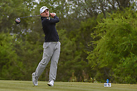 Austin Cook (USA) watches his tee shot on 15 during Round 2 of the Valero Texas Open, AT&T Oaks Course, TPC San Antonio, San Antonio, Texas, USA. 4/20/2018.<br /> Picture: Golffile | Ken Murray<br /> <br /> <br /> All photo usage must carry mandatory copyright credit (© Golffile | Ken Murray)