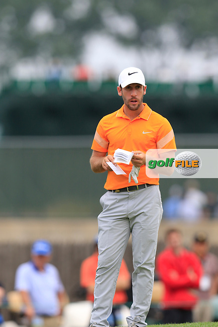 Romain Wattel (FRA) on the 8th green during Thursday's Round 1 of the 2016 U.S. Open Championship held at Oakmont Country Club, Oakmont, Pittsburgh, Pennsylvania, United States of America. 16th June 2016.<br /> Picture: Eoin Clarke | Golffile<br /> <br /> <br /> All photos usage must carry mandatory copyright credit (&copy; Golffile | Eoin Clarke)