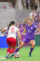 Orlando, FL - Saturday August 05, 2017: Jennifer Hoy, Dani Weatherholt during a regular season National Women's Soccer League (NWSL) match between the Orlando Pride and the Chicago Red Stars at Orlando City Stadium.