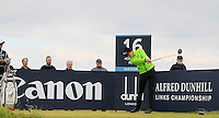 Gary Hurley (IRL) on the 16th tee during Round 4 of the 2015 Alfred Dunhill Links Championship at the Old Course in St. Andrews in Scotland on 4/10/15.<br /> Picture: Thos Caffrey | Golffile