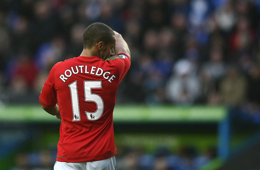 Swansea City's Wayne Routledge ..Football - Barclays Premiership - Reading v Swansea City - Wednesday 26th December 2012 - Madejski Stadium - Reading..