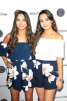 LOS ANGELES - AUG 12: The Merrell Twins at the 5th Annual BeautyCon Festival Los Angeles at the Convention Center on August 12, 2017 in Los Angeles, California