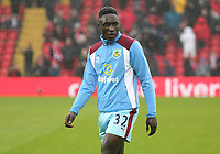 Burnley's Daniel Abyei during the pre-match warm-up <br /> <br /> Photographer Rich Linley/CameraSport<br /> <br /> The Premier League - Liverpool v Burnley - Sunday 12 March 2017 - Anfield - Liverpool<br /> <br /> World Copyright &copy; 2017 CameraSport. All rights reserved. 43 Linden Ave. Countesthorpe. Leicester. England. LE8 5PG - Tel: +44 (0) 116 277 4147 - admin@camerasport.com - www.camerasport.com