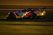 June 14 and 15th 2017,  Le Mans, France; Le man 24 hour race qualification sessions at the Circuit de la Sarthe, Le Mans, France;  #50 LARBRE COMPETITION (FRA) CHEVROLET CORVETTE C7-Z06 LMGTE CHRISTIAN PHILIPPON (FRA) ROMAIN BRANDELA (FRA) FERNANDO REES (BRA)