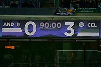 ANDERLECHT, BELGIUM - SEPTEMBER 27 : scoreboard  during the Champions League Group B  match between RSC Anderlecht and Celtic FC on September 27, 2017 in Anderlecht, Belgium, 27/09/2017 <br /> Foto Photonews/Panoramic