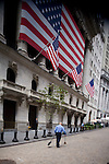 The New York Stock Exchange on Wall Street, New York City, New York, USA, September 15, 2008