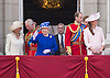 QUEEN, KATE, PRINCE CHARLES, CAMILLA AND PRINCE WILLIAM<br /> appear on the balcony of Buckingham Palace to watch the Royal Air Force Flypast as part of the Trooping of the Colour, London_15th June 2013<br /> The annual event marks the Queen's Official Birthday.<br /> Photo Credit: &copy;Dias/NEWSPIX INTERNATIONAL<br /> <br /> **ALL FEES PAYABLE TO: &quot;NEWSPIX INTERNATIONAL&quot;**<br /> <br /> PHOTO CREDIT MANDATORY!!: NEWSPIX INTERNATIONAL<br /> <br /> IMMEDIATE CONFIRMATION OF USAGE REQUIRED:<br /> Newspix International, 31 Chinnery Hill, Bishop's Stortford, ENGLAND CM23 3PS<br /> Tel:+441279 324672  ; Fax: +441279656877<br /> Mobile:  0777568 1153<br /> e-mail: info@newspixinternational.co.uk