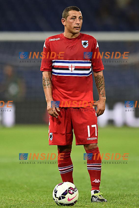 Angelo Palombo <br /> Genova 02-08-2014 Stadio Marassi <br /> Calcio 2014/2015 Sampdoria - Eintracht Francoforte <br /> Foto Matteo Gribaudi / Image/ Insidefoto
