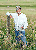 Rancher Bill Gay in front of his hay field along Highway 131 near Steamboat Springs, Colorado, Wednesday, August 12, 2015.<br /> <br /> Photo by Matt Nager